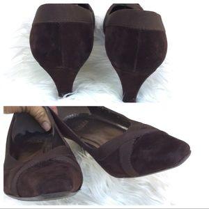 Stuart Weitzman Shoes - Stuart Weitzman Suede Ribbon Contrast Heel 8M